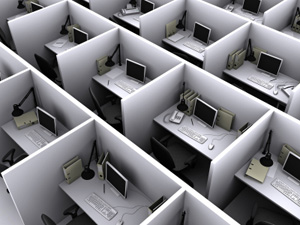 Cubicles Arial View