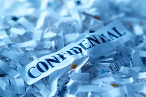 Confidential Shredding Paper