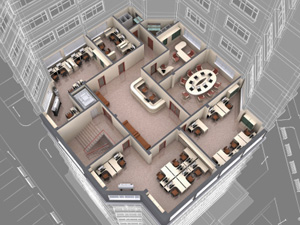 Arial View of Office Furniture