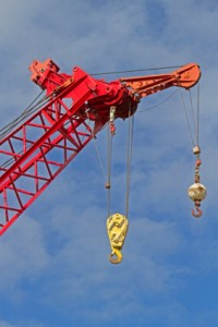Crane ready for Industrial rigging job